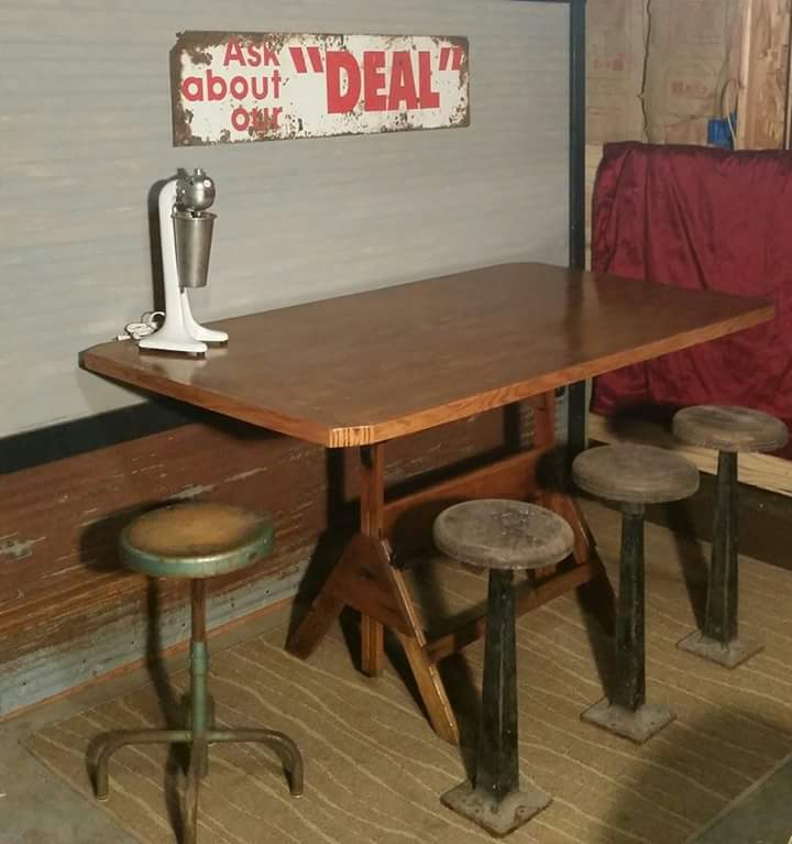 Drafting Base Dining Table