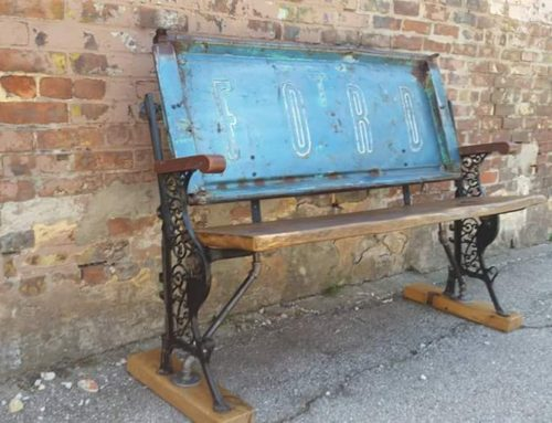 Blue Ford Tailgate Bench