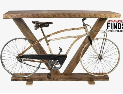 Rustic Bicycle Console Table