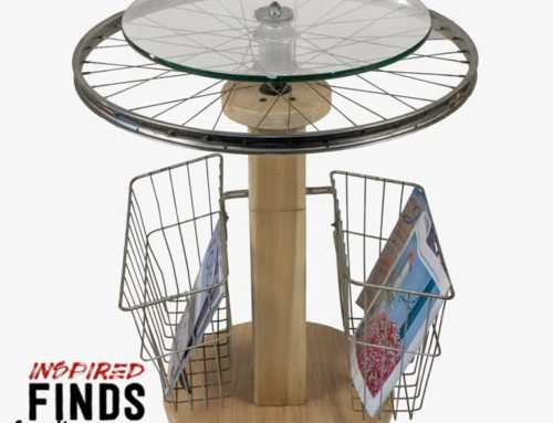 Round Bicycle Side Table