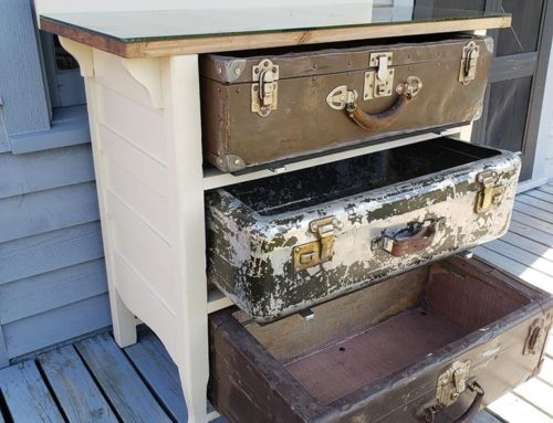 Shabby Suitcase Dresser
